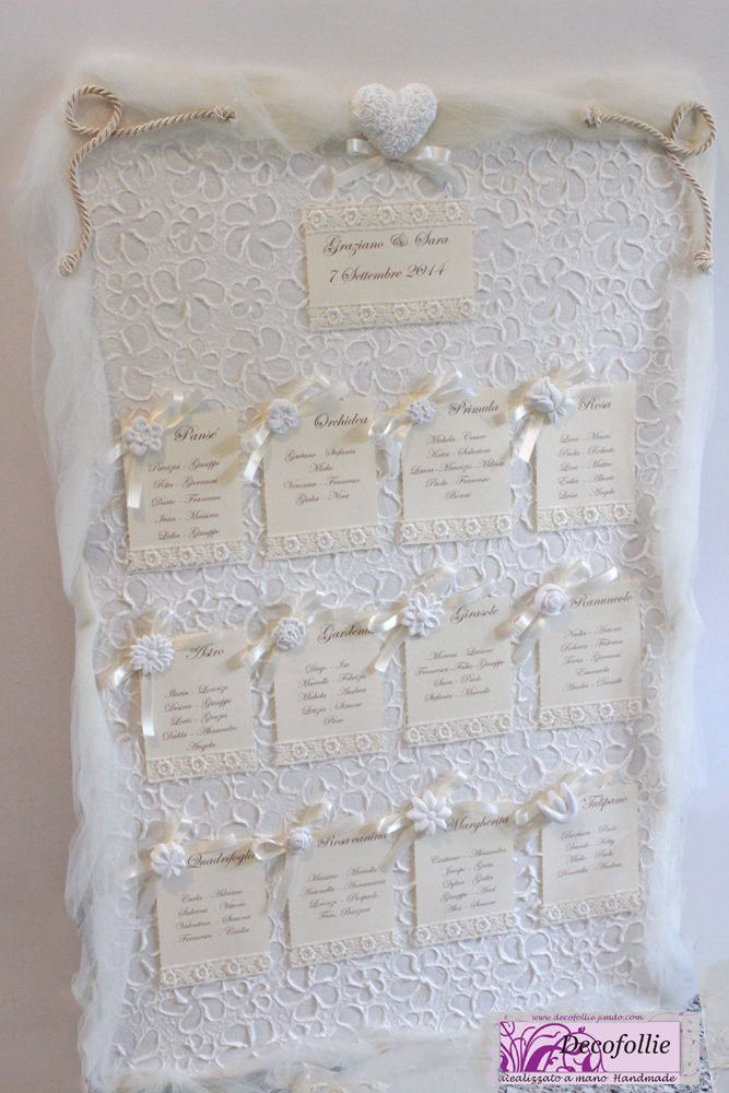 tableau mariage fiori gessetti matrimonio battesimo. Black Bedroom Furniture Sets. Home Design Ideas