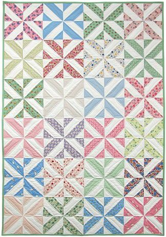 spring showers strip quilt kit, ruler, & free pdf pattern