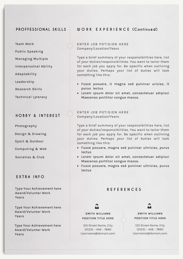 19 best CV images on Pinterest Professional resume template - elegant resume templates