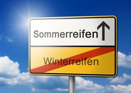 wechsel von Sommer zu Winter