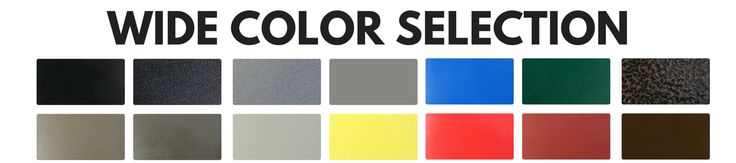Powder coating color selection for outdoor furniture from Premier memorial bench