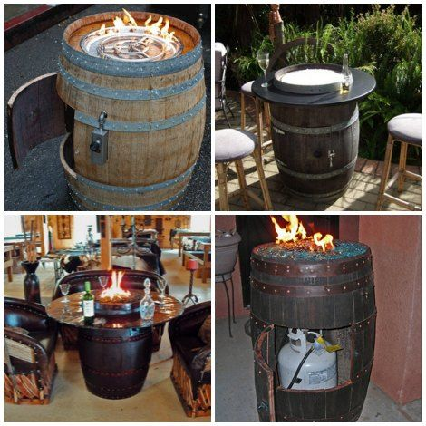 Diy Wine Barrel Fire Pit Table Wine Barrel Fire Pit