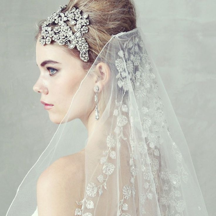 Maria Elena Headpieces Swarovski Crystal and Mother of Pearl Headpiece ... styled by @thetreatdressing