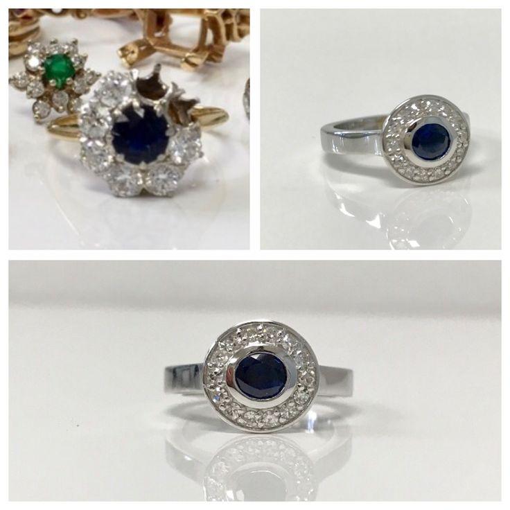 Modernized a beautiful beautiful sapphire.