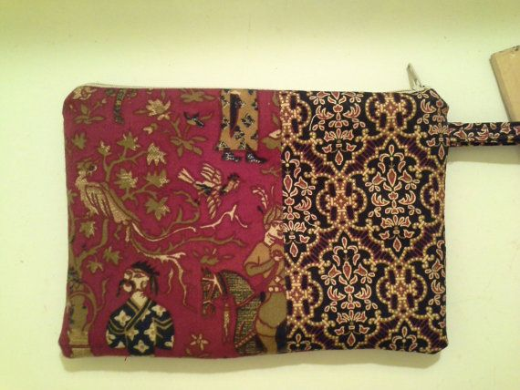 Asian Inspired Scrap Fabric Wristlet by NikiStix on Etsy, $9.00