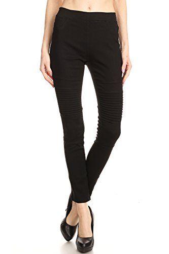 3cf831fa5df99e Women's Moto Pants Biker Skinny Leggings   Womens Fashion Street ...