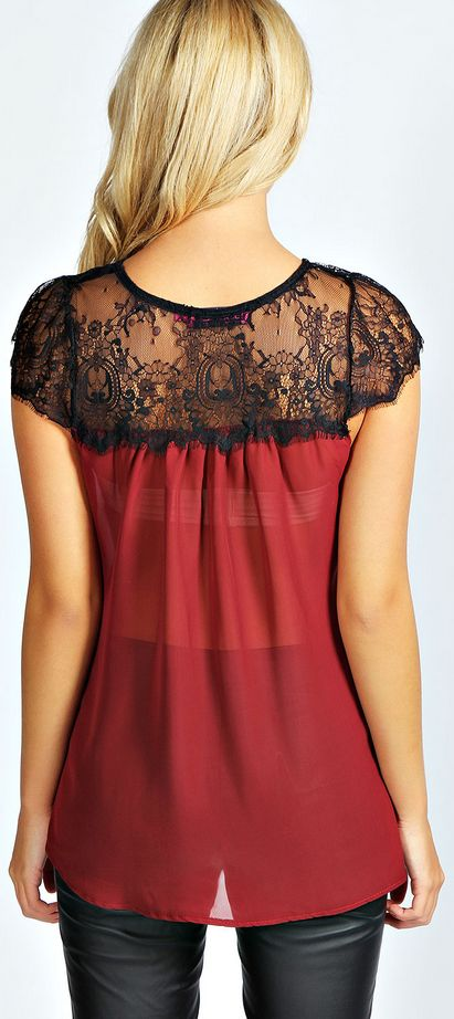 Stitch fix stylist: beautiful bold red and the lace details. I would like to add more red in my wardrobe.
