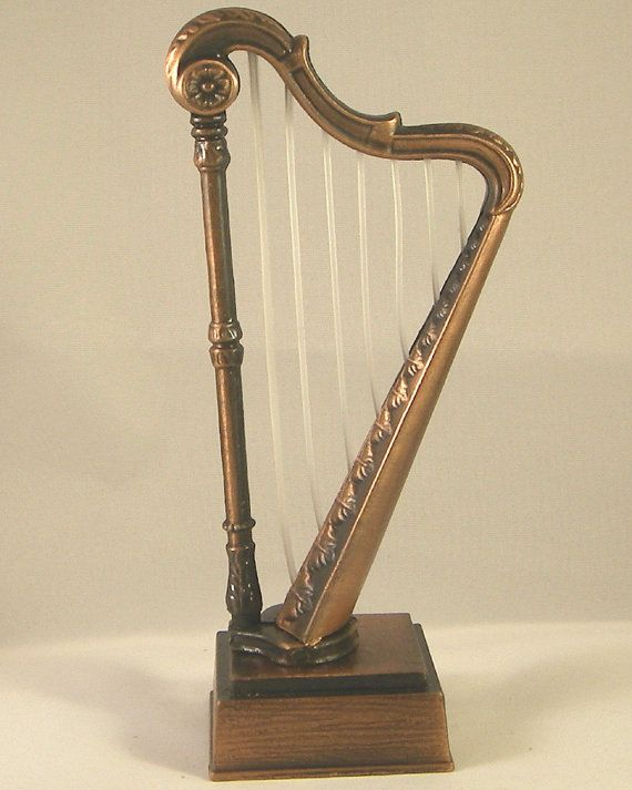 I Have One Of These HARP Miniature DieCast Antique Finished Pencil  Sharpener  K
