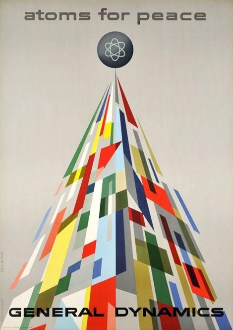 General Dynamics poster, c.1954, designed by Erik Nitsche.