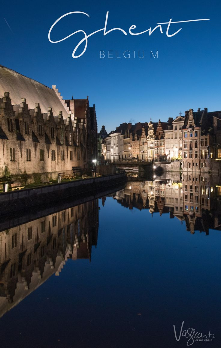 One of the best things to do in Ghent Belgium is the Ghent Illuminated City Walk.