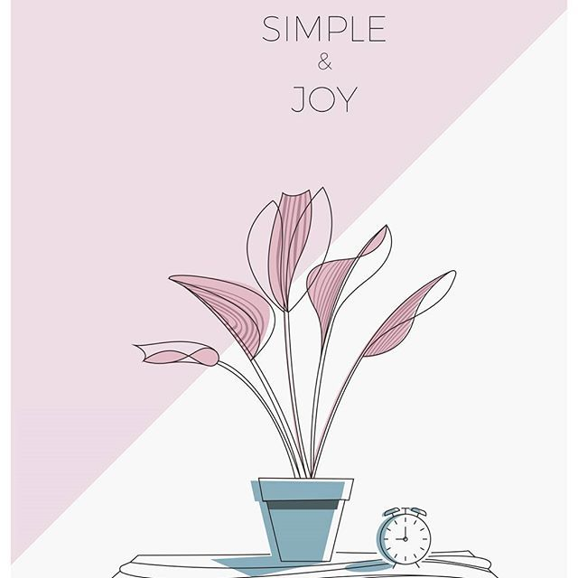 T x Illustration More simple, more joy. I was given a notebook as a gift and find this motto inside.Definitely what i should pursuit . #simple #joy #minimal #art #sketchbook #illustration #plant #composition #lineart #bimteestudio #tessday73#practicedaily