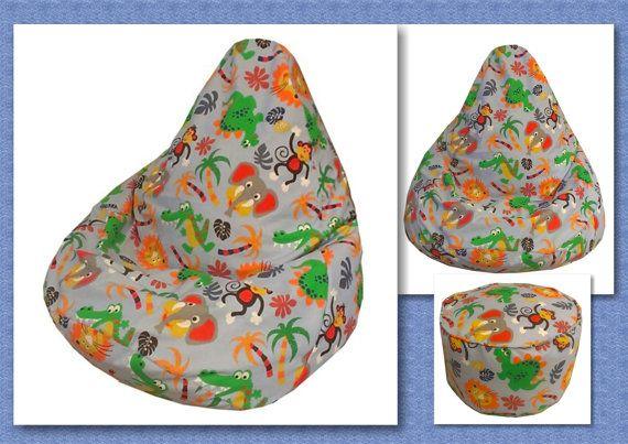 Kids BEAN BAG Sewing Pattern with FREE bonus by vintageknits4baby