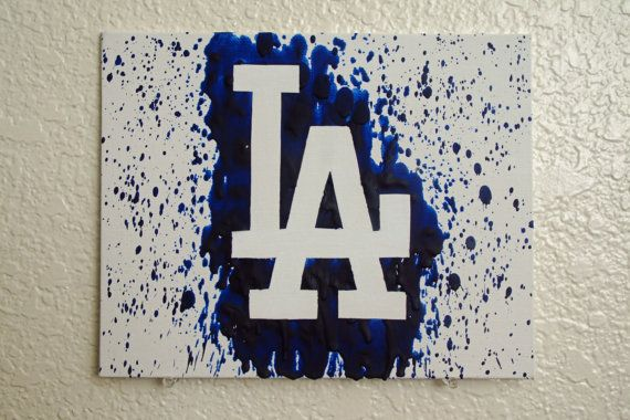 Los Angeles Dodgers Melted Crayon Art by MikeAndKatieMakeArt