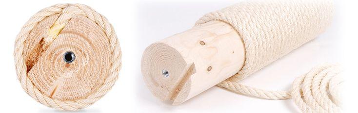 Das Sisalseil unsere massiven Vollholzstämme ist stabil, robust und unverwüstlich. Wir verwenden keine Pappe und kein Plastik, das knicken oder brechen könnte. Wir verarbeiten ausschließlich 11 mm dickes vierschaftiges Sisalseil für...