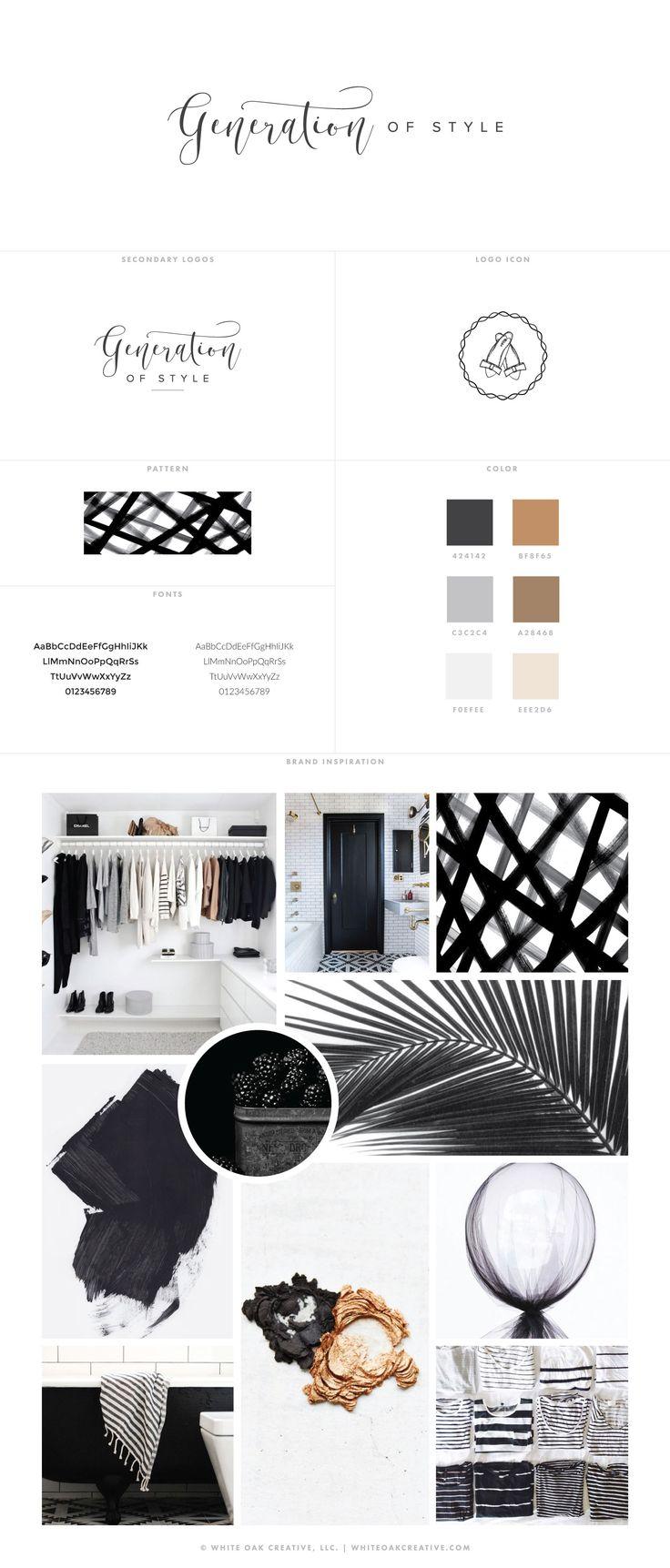 Blog Design of Generation of Style, branding and blog fashion, blog - logo design, wordpress theme, mood board inspiration, blog design idea, graphic design, branding