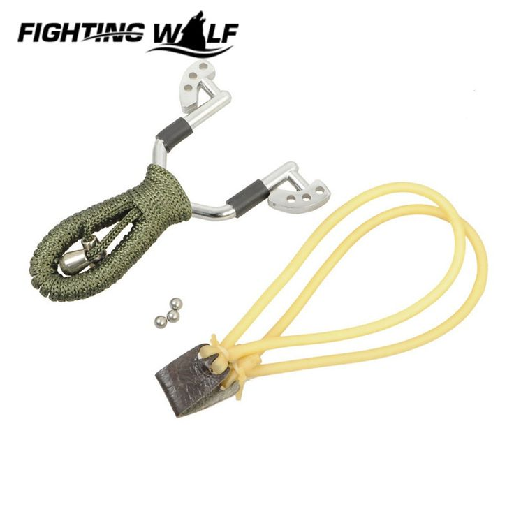 Quality Aluminium Alloy Rubber Slingshot Catapult Pocket Outdoor Hunting Airsoft Game Sling Shot Adult Hunting Slingshot