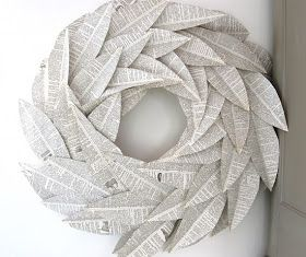 Amy's Casablanca: Book pages wreath