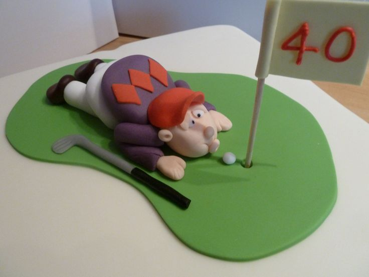 golf theme cake toppers