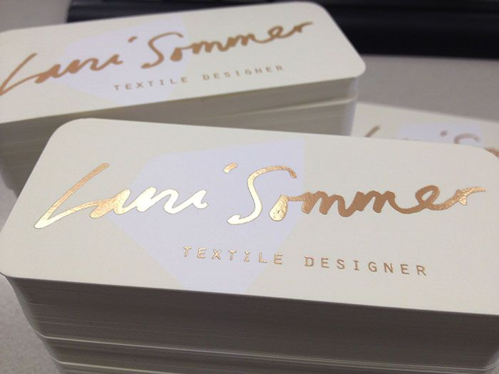 9 best foil business card images on pinterest foil business cards textile designer lani summers business card matte gold foil business card reheart Images