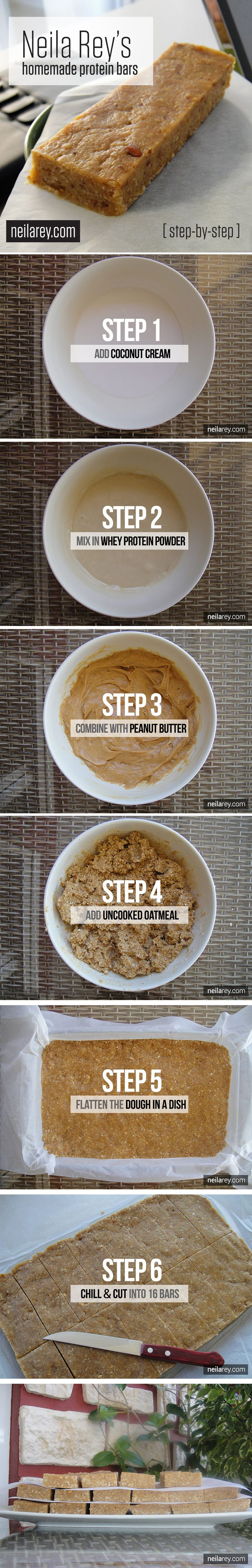 Homemade Protein Bars / Step-by-Step Recipe #healtyhrecipe #recipe #proteinbars  http://papasteves.com/blogs/news/11001973-6-natural-sugar-blockers