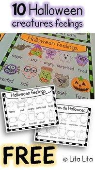 FREE 10 Halloween creatures feelings