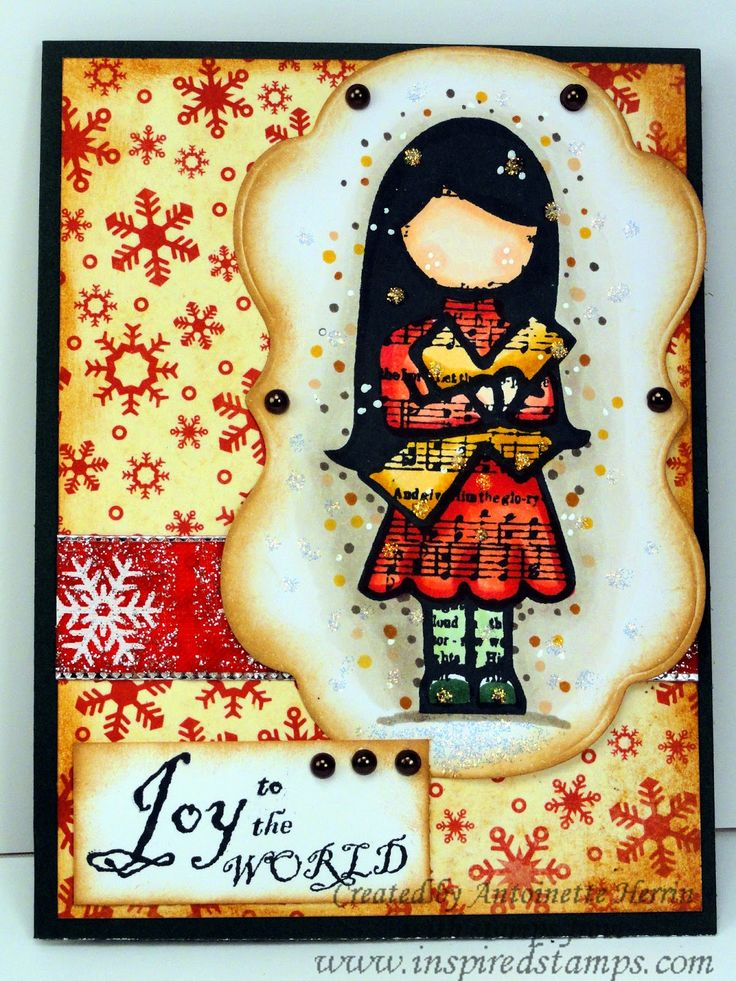 inspiredstamps.blogspot.com, christmas, copic coloring, stickles, bazzill papers
