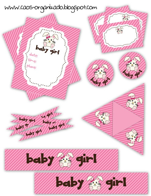 Baby Shower ~ Girl ~ Decorations ~ Free Printable Collection (en Español    Click The Image And Save To Your Computer)