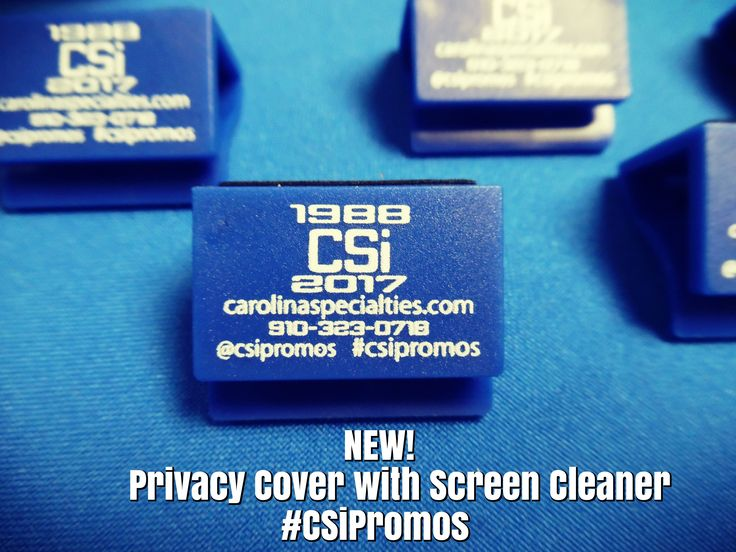 #NEW from #CSiPromos by #AAkronLine Ensure your privacy with CSi Privacy Covers! Stop by a pick up a CSi sample today! OR Order your own customized Privacy Covers with built-in Screen Cleaners today! Click here to view how it works!>> https://www.youtube.com/watch?v=YdDLTS1DH7U