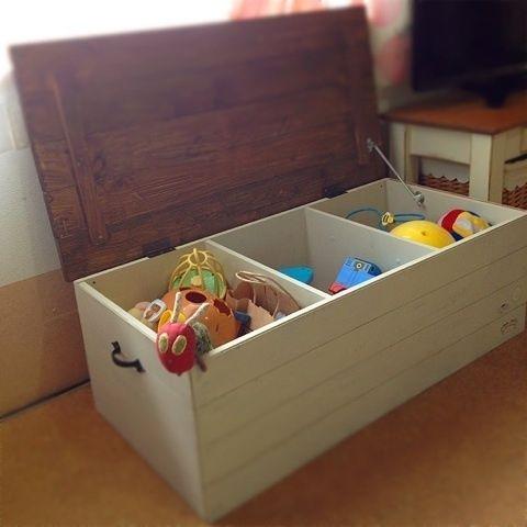 étagère+porte+poignées=méga coffre à jouet !