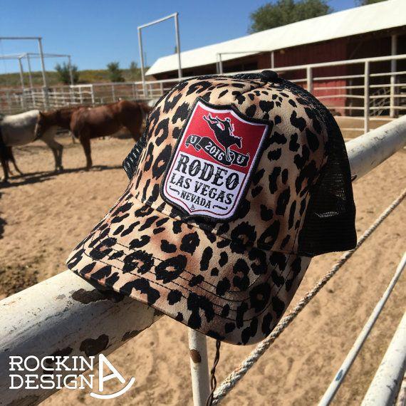 Leopard Rodeo Las Vegas woven patch cap / leopard by RockinAdesign