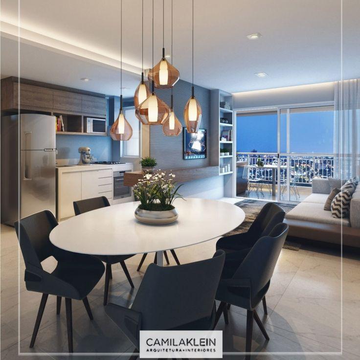 O modelo de mesa oval é excelente para uma sala de jantar pequena! É charmoso e…
