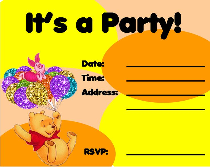 Popular Free Winnie The Pooh Invitations Creative Printables