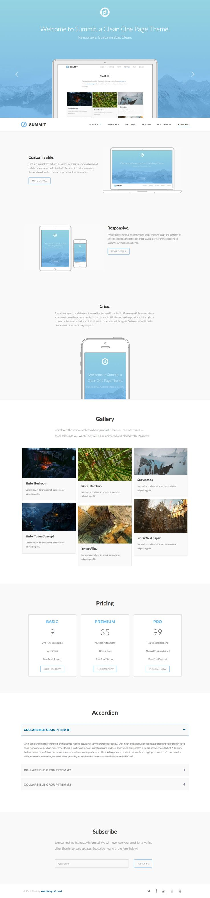 414 besten One Page Website Templates Bilder auf Pinterest | Filter ...