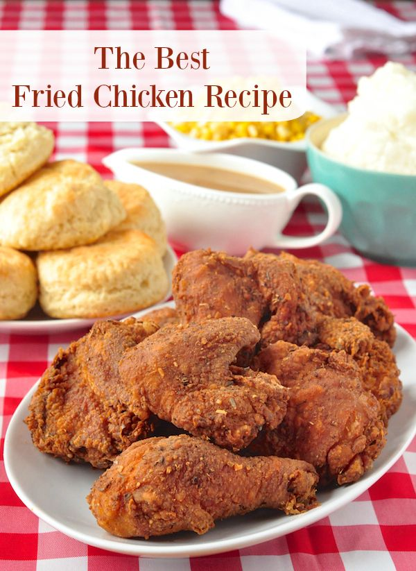 The Best Fried Chicken Recipe - with 12 and not 11 herbs and spices, this isn't quite a copycat recipe, it's even better! This delicious recipe ups the ante on KFC, plus it's juicier & contains no MSG either! A link to the easy recipe for those beautiful buttermilk biscuits is also included.