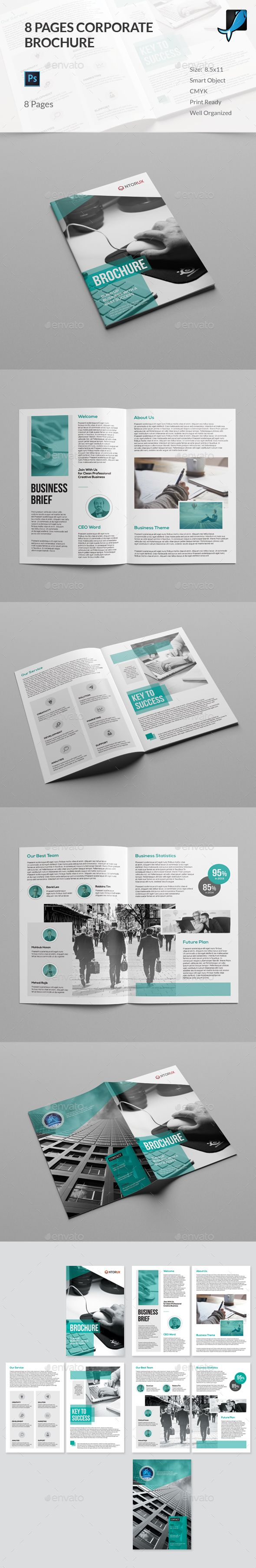 Best Brochures Images On Pinterest Brochures Brochure - 8 page brochure template