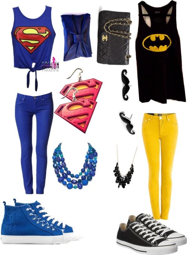 """superman!! or batman!!"" by huniie-bun-paula-vance ❤ liked on Polyvore"