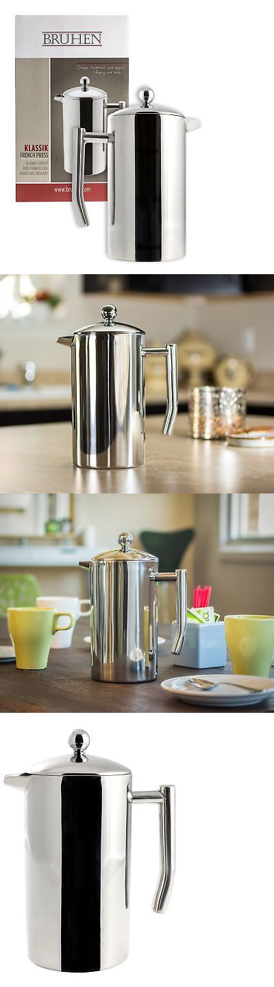 French Presses 98851: Large Stainless Steel French Press Coffee Maker - Double Wall Tea Or Coffee -> BUY IT NOW ONLY: $35.47 on eBay!