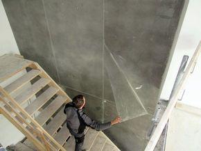 die besten 25 betonoptik wand ideen auf pinterest beton. Black Bedroom Furniture Sets. Home Design Ideas
