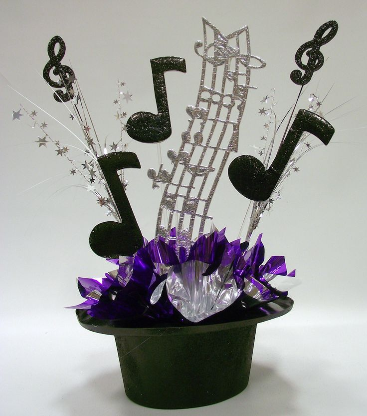 Music themed centerpiece kit for party table decorations