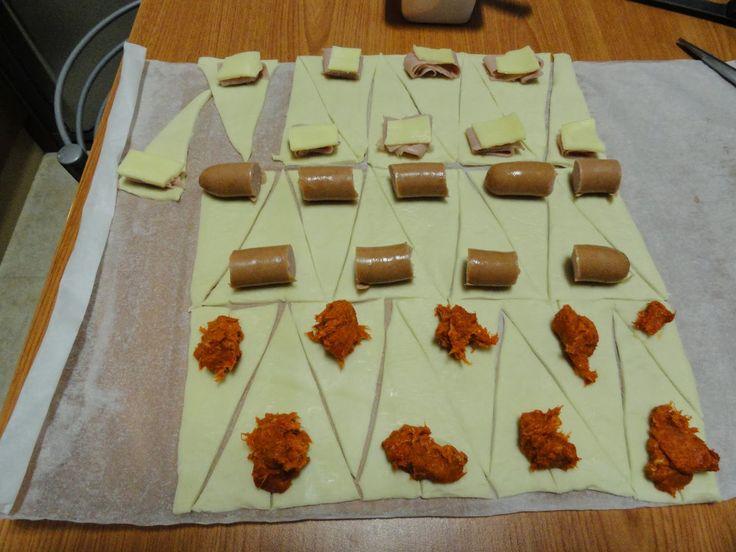 Mini croissants salados de hojaldre. Quė fácil!