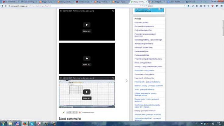 Nástoj od Google bloger - jak spravovat příspěvky na vašem blogů