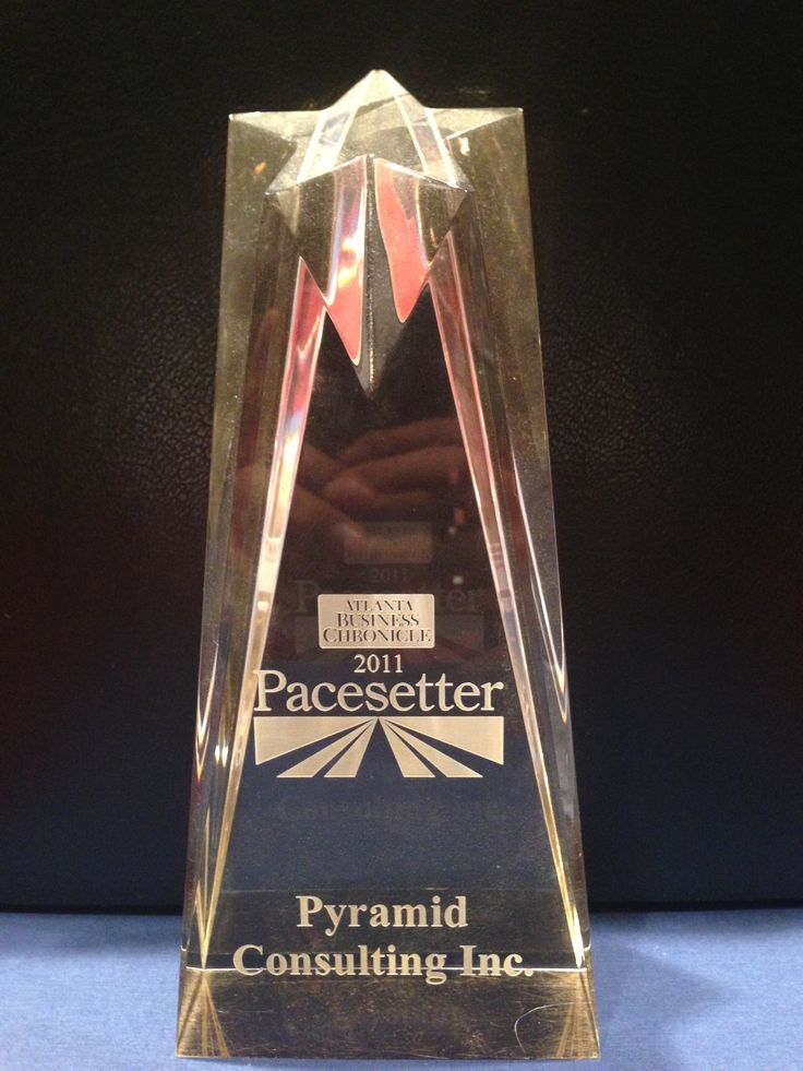 Pacesetter - 2011 In 2011, Pyramid Consulting, Inc. was recognized as one of the fastest growing companies in Atlanta by earning the Atlanta Business Chronicle Pacesetter Award, with a rank of #33, growing its U.S. revenues by 60 percent from 2009 to 2010.  http://www.bizjournals.com/atlanta/print-edition/2011/04/15/2011-pacesetter-awards-11-50.html?page=all