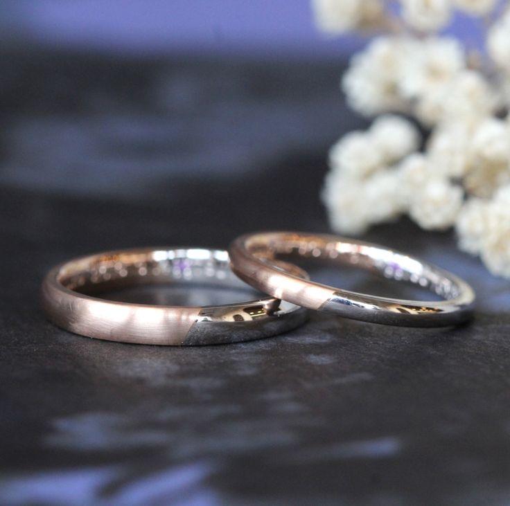 ピンクゴールドとプラチナのコンビカラー Men's Pt900,K18PG / マリッジリング Lady's Pt900,K18PG / マリッジリング [marriage,wedding,ring,bridal,オーダーメイド,ith]