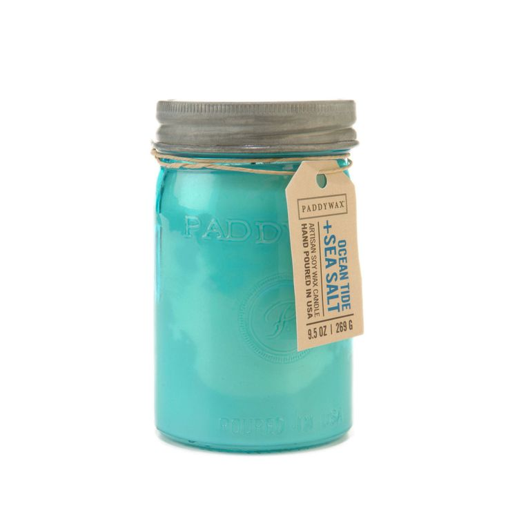 Ocean Tide & Sea Salt. Shop now at The Candle Library. Paddywax hand pour their candles in the US using 100% soy wax.