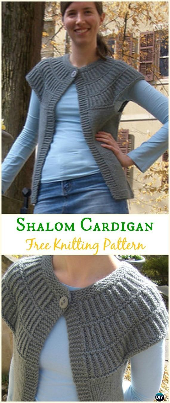 d5aa2ba2b Women s Shalom Cardigan Sweater Free Knitting Pattern - Knit Women Cardigan  Sweater Coat Free Patterns