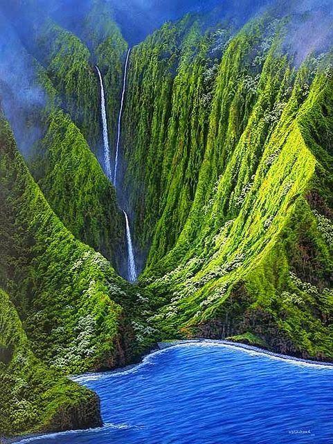 Molokai, Hawaii,patrimonio de la humanidad, por la Unesco, el 1987
