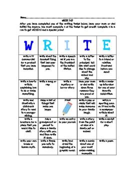 middle school daily writing prompts © literacyteachercom teachers are free to reproduce and distribute this material for classroom use 100 writing prompts 20 sentence starters.