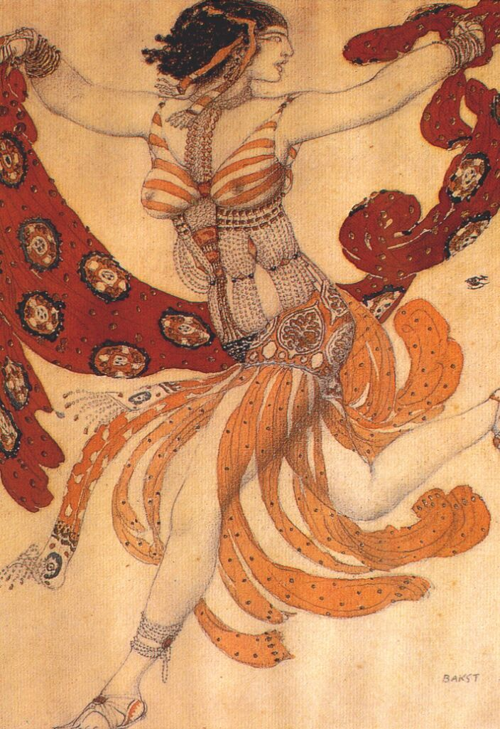 "Leon Bakst13/106 Costume design for the ballet ""Cleopatra"" (1909)"