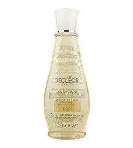 Decleor Aroma Cleanse Relaxing Shower And Bath Gel 8.4 Oz by Decleor. $19.51. Eliminates the damaging effects of hard water. Relaxing scent promotes a sense of well-being. Rich lather formula for a clean, fresh feel. Natural formula is gentle on sensitive skin. Calms and cleanses all skin types. Decleor Aroma Cleanse Body Relaxing Shower and Bath Gel is a calming, neutralizing gel for the shower and bath that cleanses the skin while leaving it soft, relaxed an...