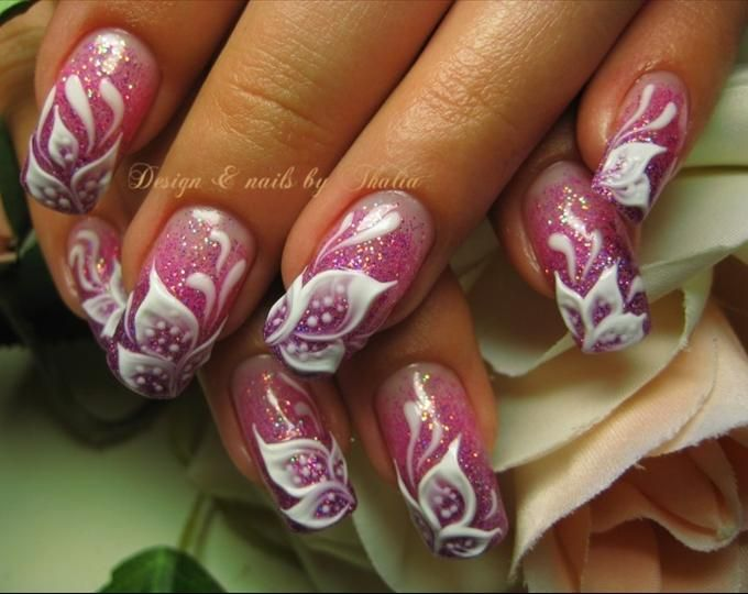 44 best more cool nails images on pinterest nail designs board flower nail art 3d gel flowers nail art photo prinsesfo Image collections